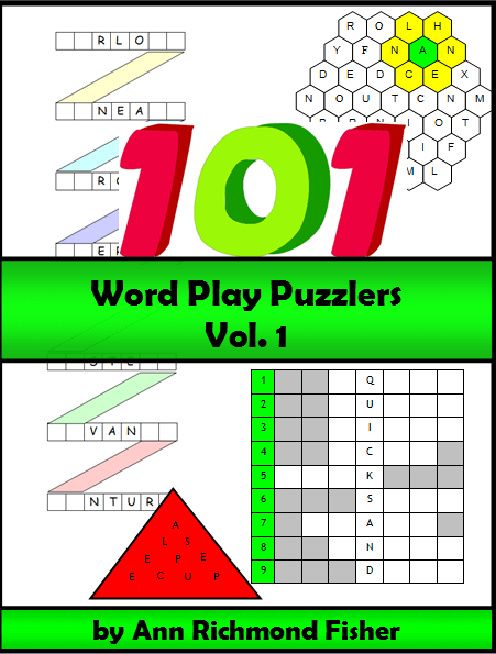 101 Word Play Puzzlers by Ann Richmond Fisher, downloadable ebook from #wordgamewworld