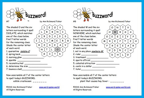 Word Games Free Fun Printable And Uniquely Challenging