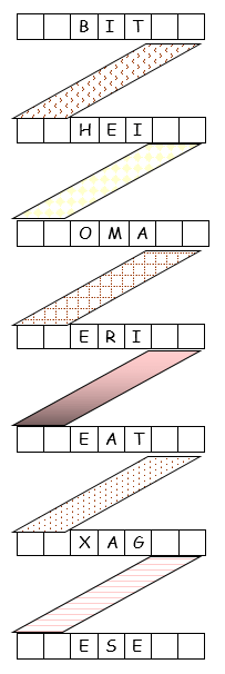 ZigZag word puzzle, a popular choice from www.word-game-world.com