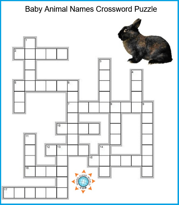 picture regarding Animals Word Search Printable named Animal Crossword Puzzles