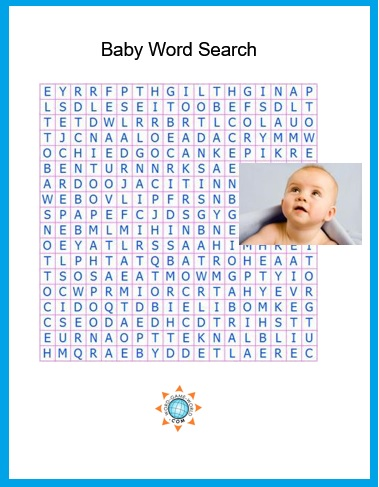 baby word search puzzle