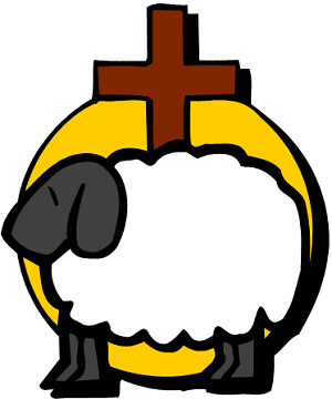 Sheep and cross