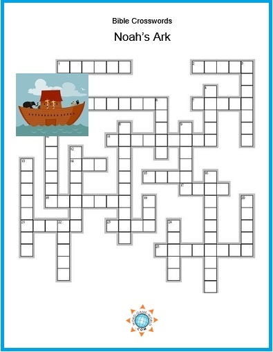 Noah's Ark Bible crossword