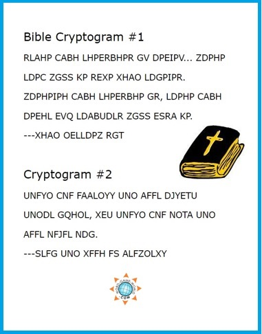 Bible Cryptogram puzzles