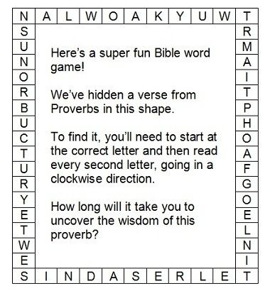 Bible Games And Puzzles Try These Puzzling Proverbs