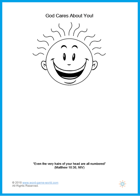 Bible Lesson for Kids - God cares about you so much that He even counts the number of hairs on your head! Find the entire lesson and coloring page here.