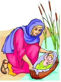 Baby Moses and mother