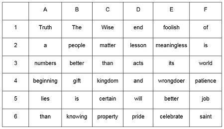 bible word puzzle diagram