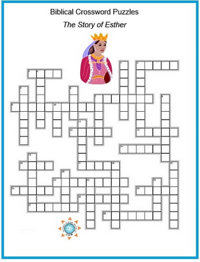 Biblical Crossword Puzzle - Queen Esther