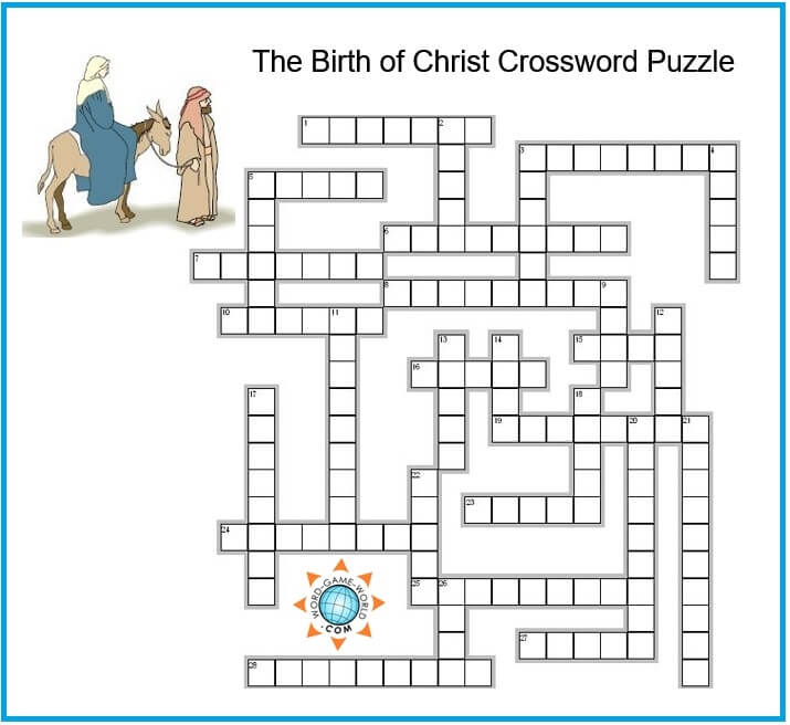 religious crossword puzzle grid