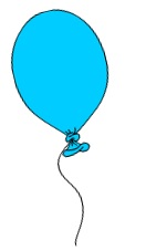 Blue Balloon from our Word Searches for Kids