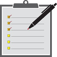 Checklist on a clipboard with a pen, from our Educational Games for High School students