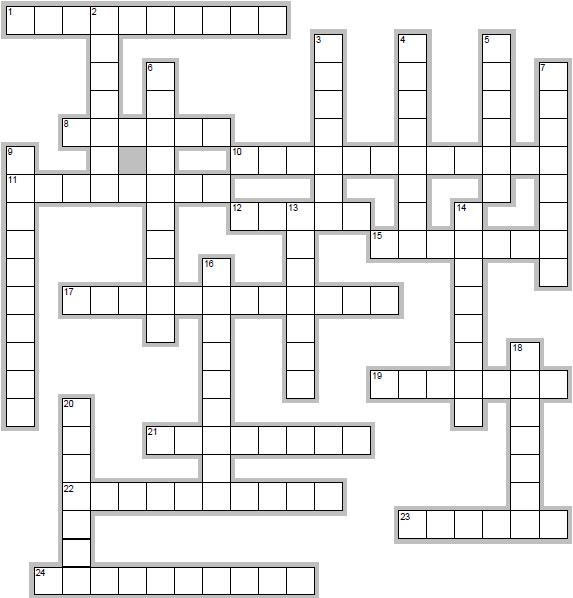 Here's the kids' crossword for