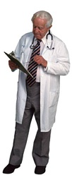 doctor holding a clipboard and stethoscope