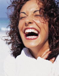 Smiling woman, from our Cryptoquote puzzles from amazing women