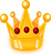 golden bejeweled crown