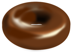 chocolate covered donut