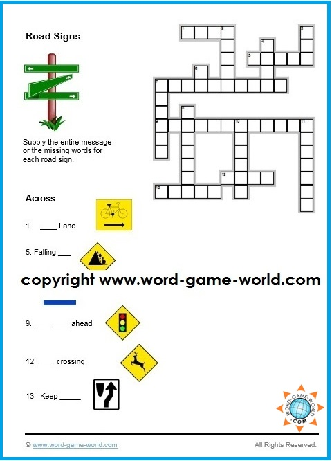 Easy crossword puzzle - diagram and across clues