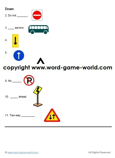 Easy crossword puzzle - diagram and DOWN clues