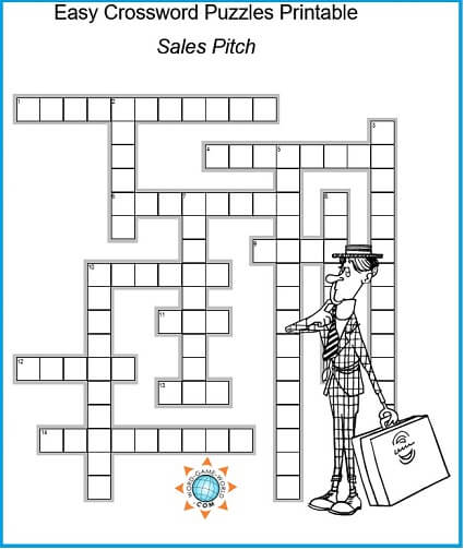 photograph relating to Simple Crossword Puzzles Printable identified as Basic Crossword Puzzles Printable for Your Comfort