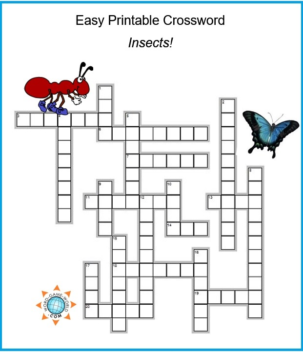Free Easy Crossword Puzzles on Easy Printable Crossword Easy Crosswords Free Easy Crossword