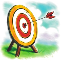 target with arrow in bullseye
