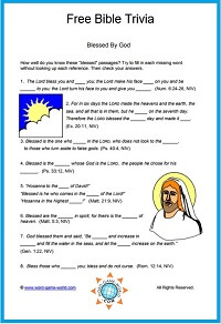 Free #BibleTrivia - Blessed By God Trivia quiz for all ages