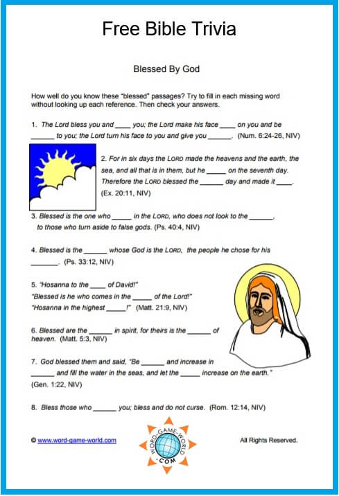 Trust image for printable bible quiz