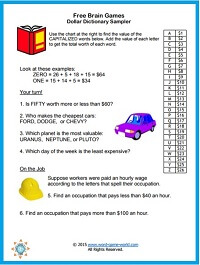 graphic about Free Printable Brain Teasers identified as Enjoyable Mind Game titles for All Ages