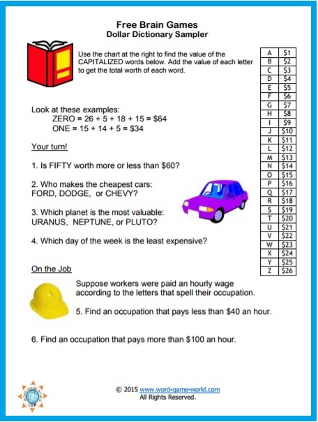 Brain Games Free Fun and Printable
