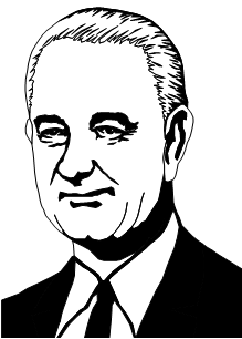 portrait of LBJ