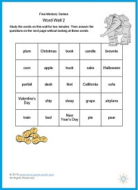 Free Memory Games - Word Wall 2 from www.word-game-world.com