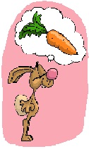 rabbit dreaming of a big carrot
