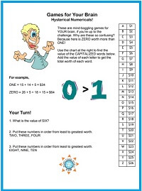 Games for Your Brain - Hysterical Numericals! One of many fun #braingames at www.word-game-world.com