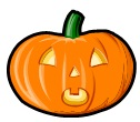 Halloween pumpkin from our Halloween Word Search puzzle at www.word-game-world.com