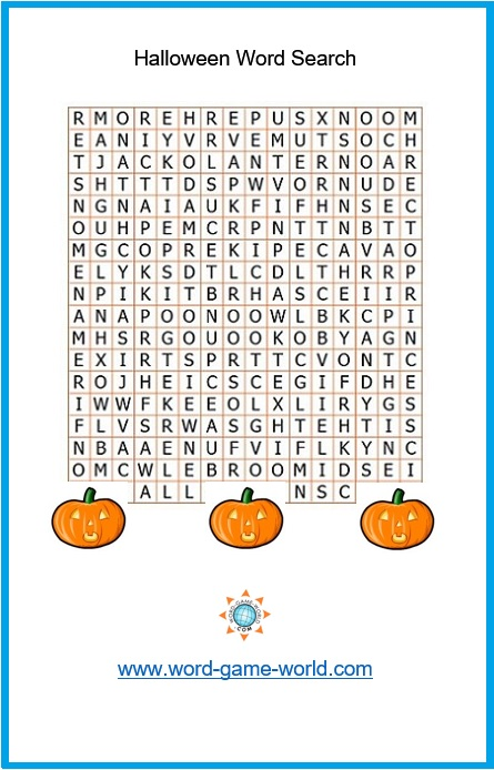 Halloween Crossword Puzzles Free Halloween Word Se...