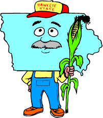 cartoon image of Iowa