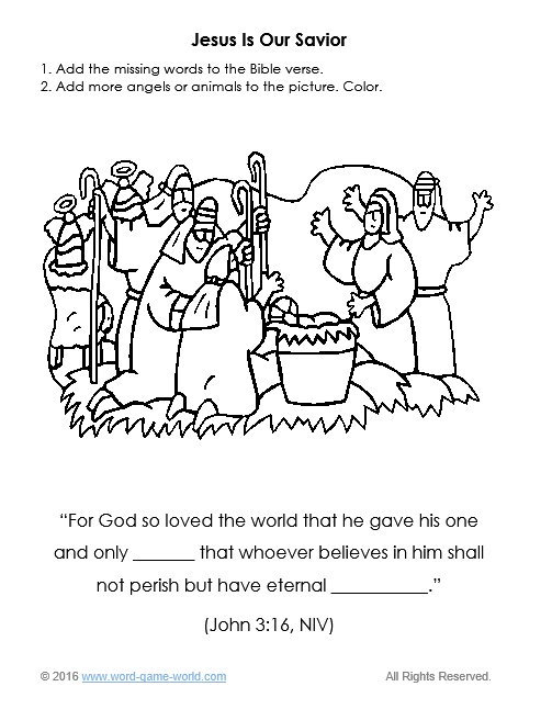 Jesus is Our Savior Coloring Page