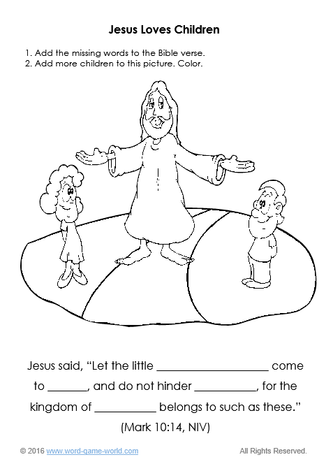 Finish the verse, finish the picture worksheet titled
