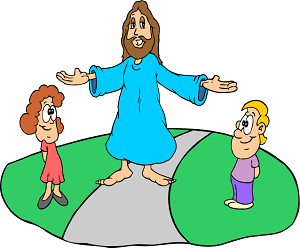 Jesus loves children - Bible coloring sheet from www.word-game-world.com