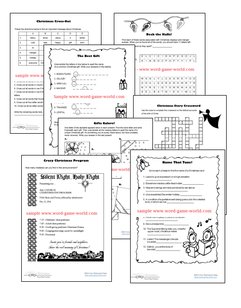 sample pages from Joyous Christmas eBook