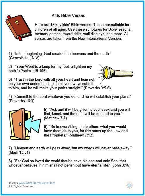 Top Key Kids Bible Verses SX35