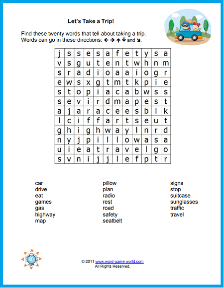 graphic relating to Printable Word Games known as Printable Phrase Lookups for Children