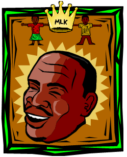 smiling face of Martin Luther King, Jr.