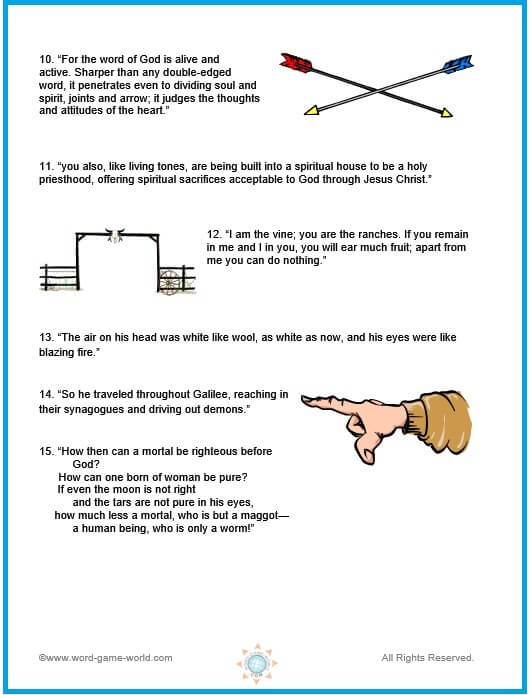 Missing Letters - Bible Trivia for Youth Groups, page 2
