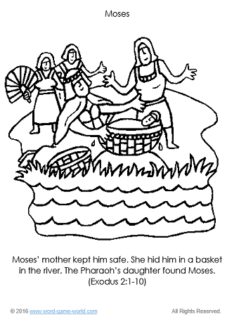 Moses - Bible Coloring Page 1