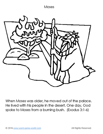 Moses - Bible Coloring Page 2