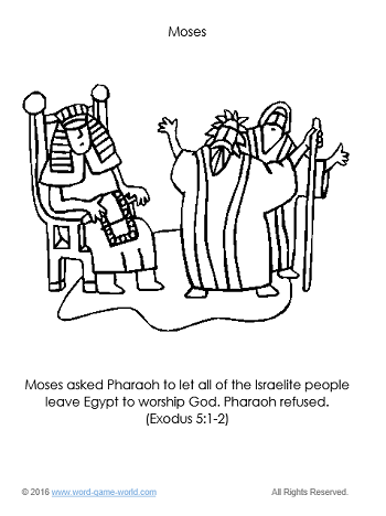 Moses - Bible Coloring Page 3