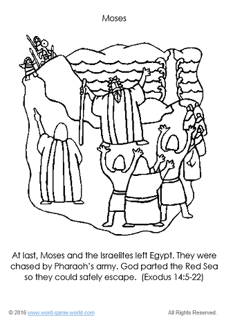 Moses - Bible Coloring Page 4