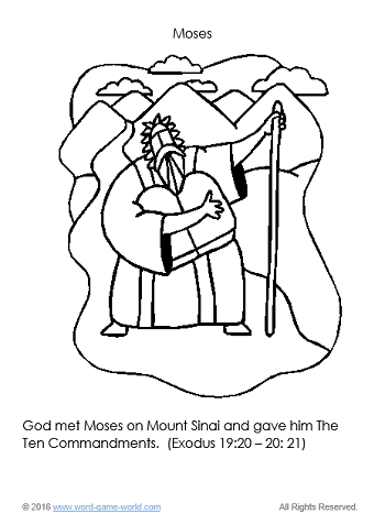 Moses - Bible Coloring Page 5